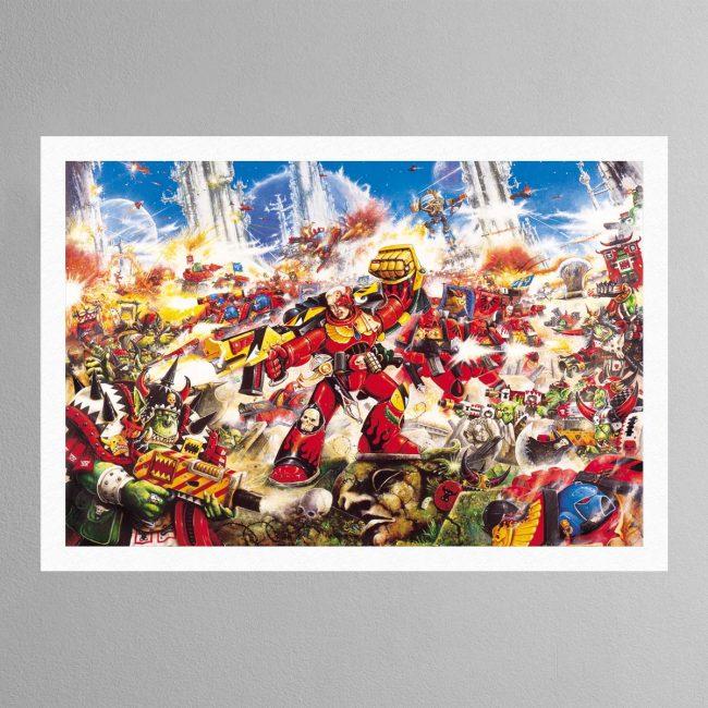 Blood Angel Vs Orks – Print