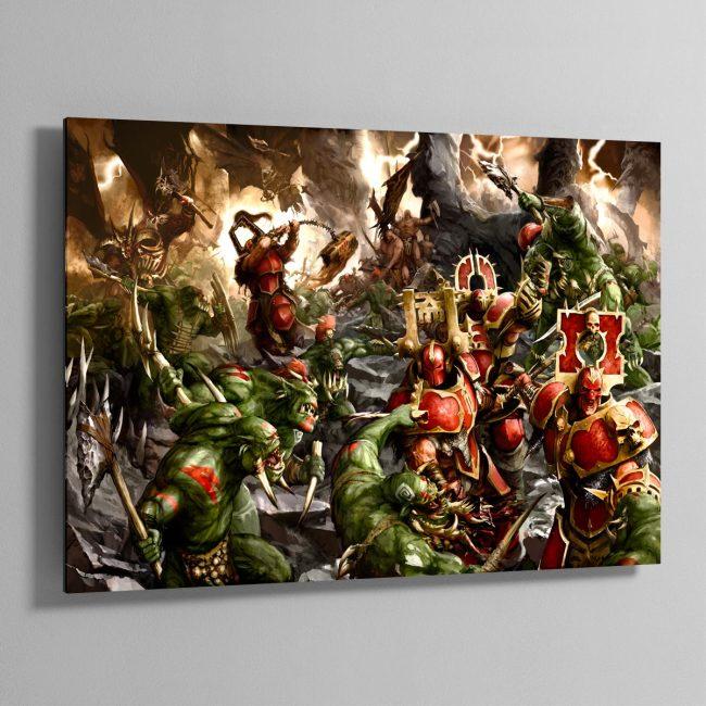 Bloodbound vs Savage Orruks – Aluminium Print