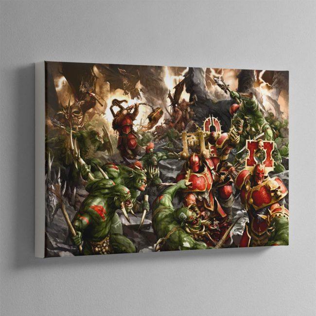 Bloodbound vs Savage Orruks – Canvas