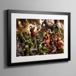 Bloodbound vs Savage Orruks – Frame Print