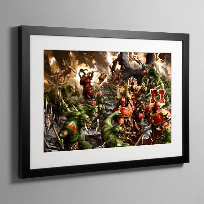Bloodbound vs Savage Orruks – Frame Print