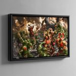 Bloodbound vs Savage Orruks – Framed Canvas