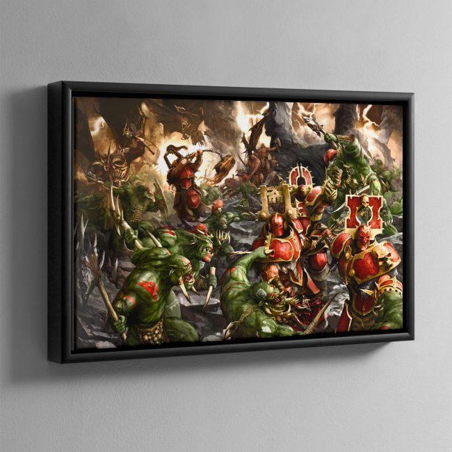 Bloodbound vs Savage Orruks – Framed Canvas