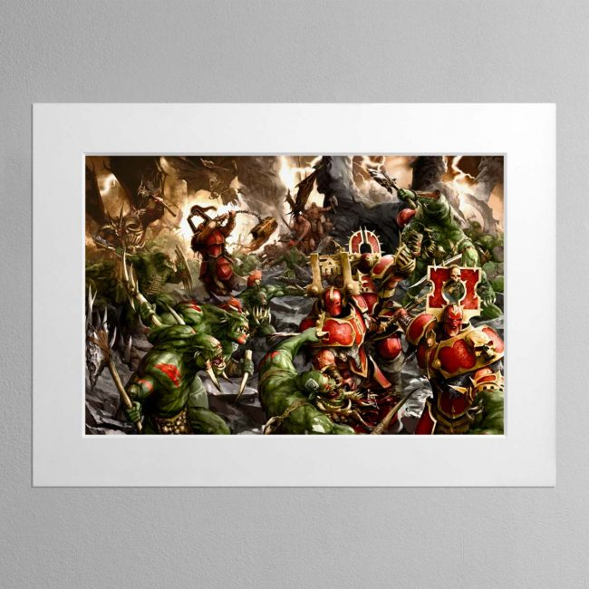 Bloodbound vs Savage Orruks – Mounted Print