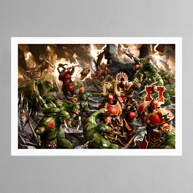 Bloodbound vs Savage Orruks – Print