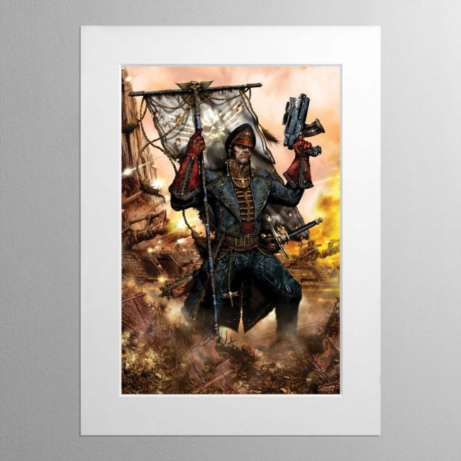 Ciaphas Cain – Mounted Print