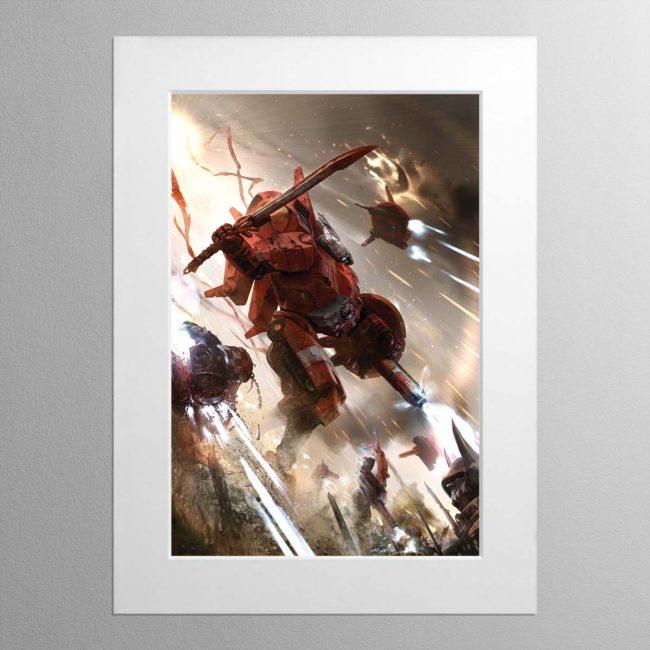 Commander Farsight – Mounted Print