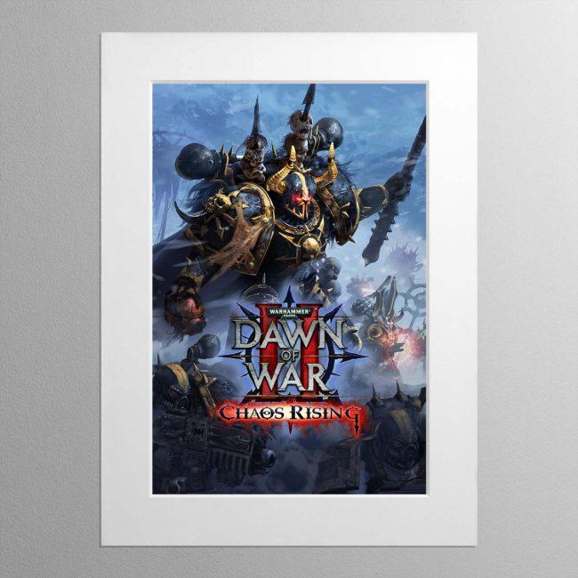 Dawn Of War 2 – Chaos Rising – Mounted Print