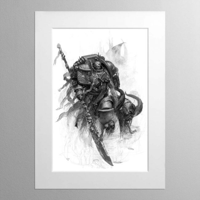 Grey Knight – Mounted Print
