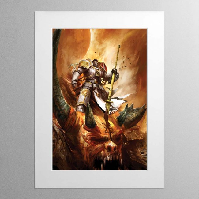 Grey Knight – Mounted Print