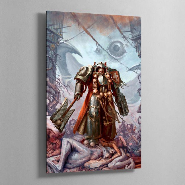 Grey Knights Chaplain – Aluminium Print
