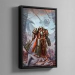 Grey Knights Chaplain – Framed Canvas