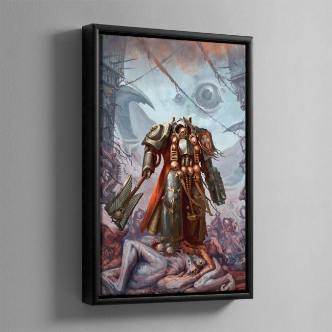 Grey Knights Chaplain – Framed Canvas