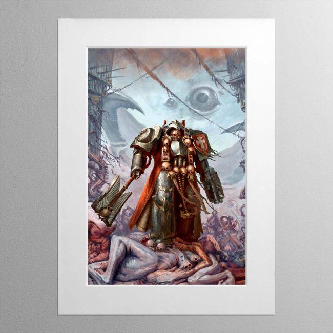 Grey Knights Chaplain – Mounted Print