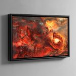 Grimnir and Vulcatrix – Framed Canvas
