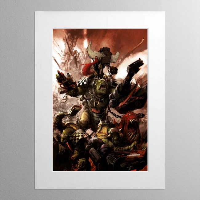 Grukk Facebiter – Mounted Print