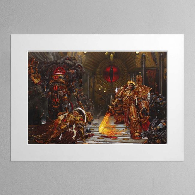 Horus Vs The Emperor (2004) – Mounted Print