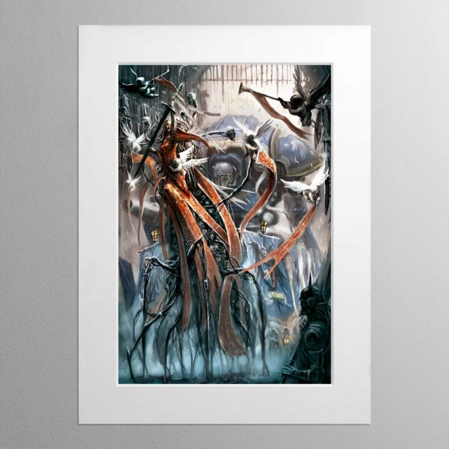 Imperial Knight And Lady – Mounted Print