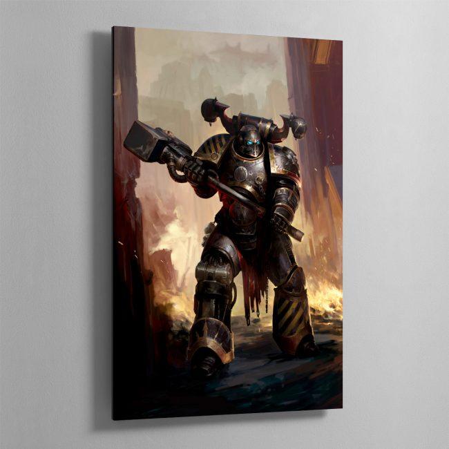 Iron Warriors Chaos Space Marine – Aluminium Print