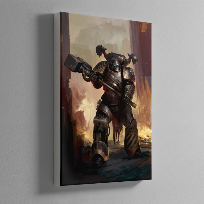Iron Warriors Chaos Space Marine – Canvas