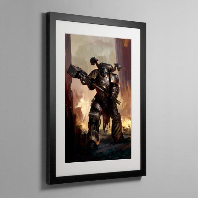 Iron Warriors Chaos Space Marine – Frame Print