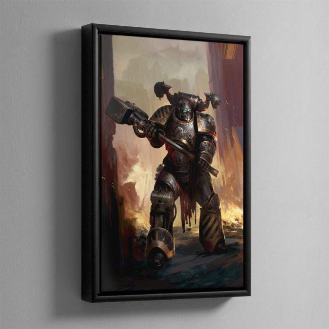 Iron Warriors Chaos Space Marine – Framed Canvas