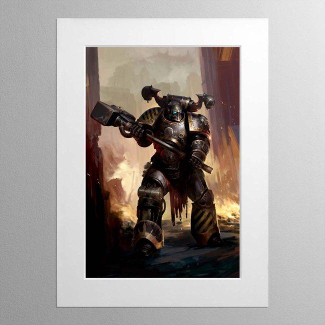 Iron Warriors Chaos Space Marine – Mounted Print