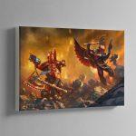 Kharn the Betrayer vs Death Company Chaplain – Canvas
