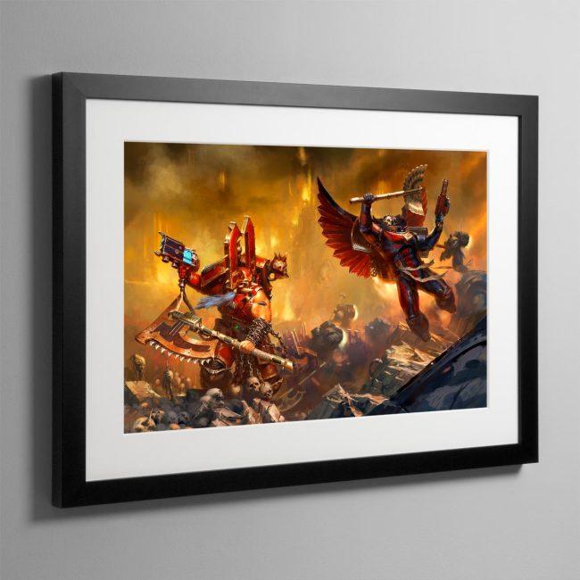 Kharn the Betrayer vs Death Company Chaplain – Frame Print
