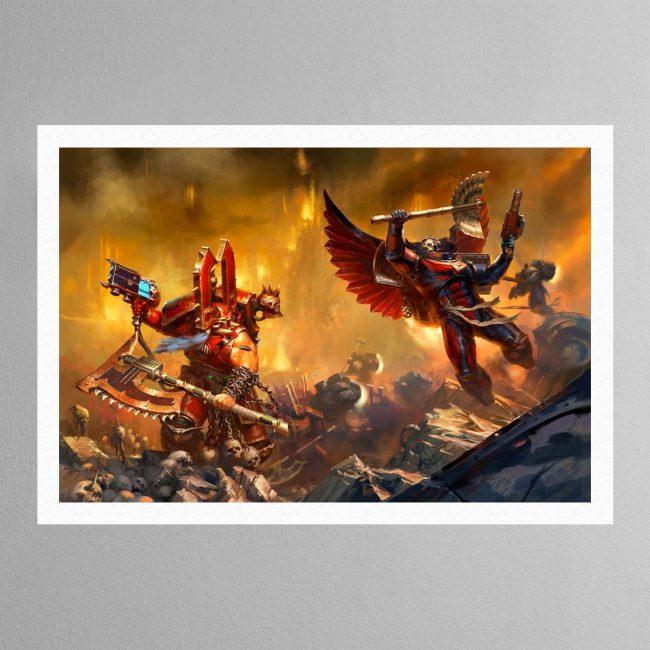 Kharn the Betrayer vs Death Company Chaplain – Print