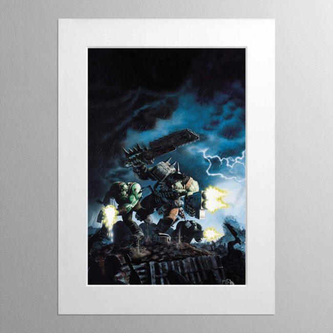 Ork Boyz – Mounted Print