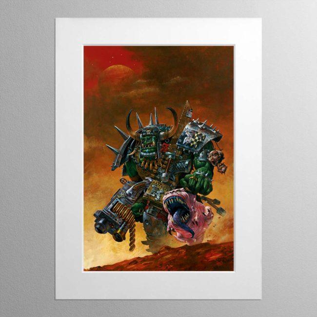 Ork Warboss – Mounted Print