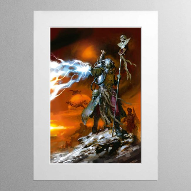Sanctioned Psyker – Mounted Print