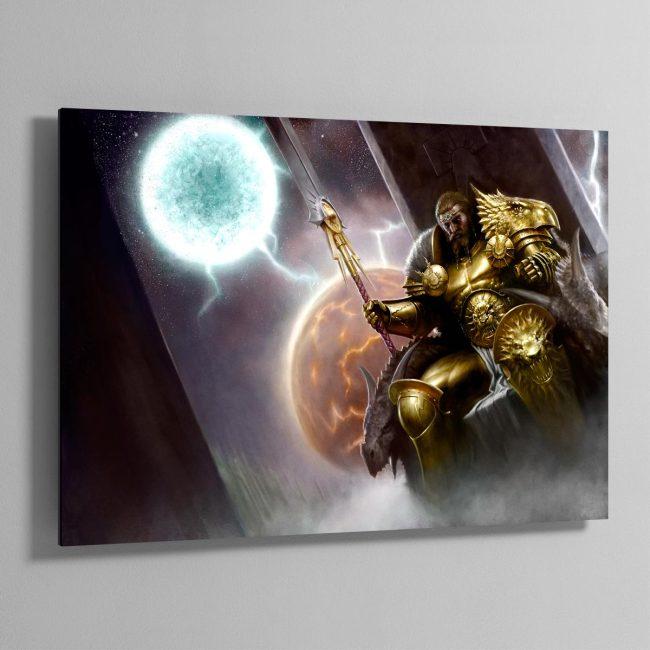 Sigmar, the God-King – Aluminium Print