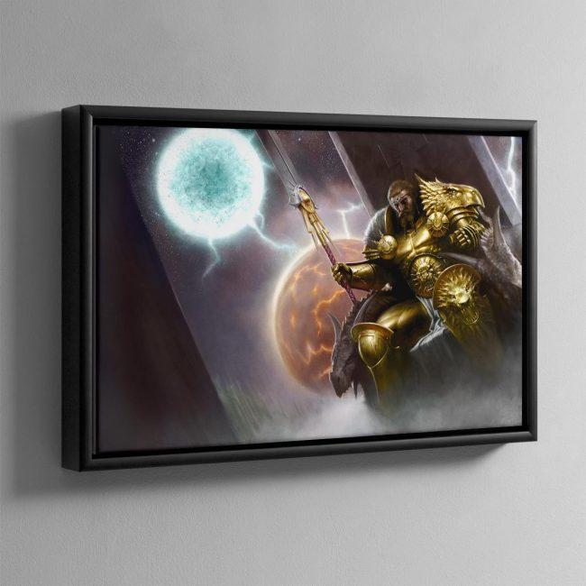 Sigmar, the God King – Framed Canvas