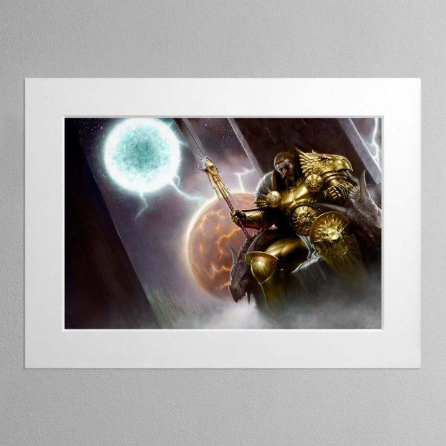 Sigmar, the God-King – Mounted Print