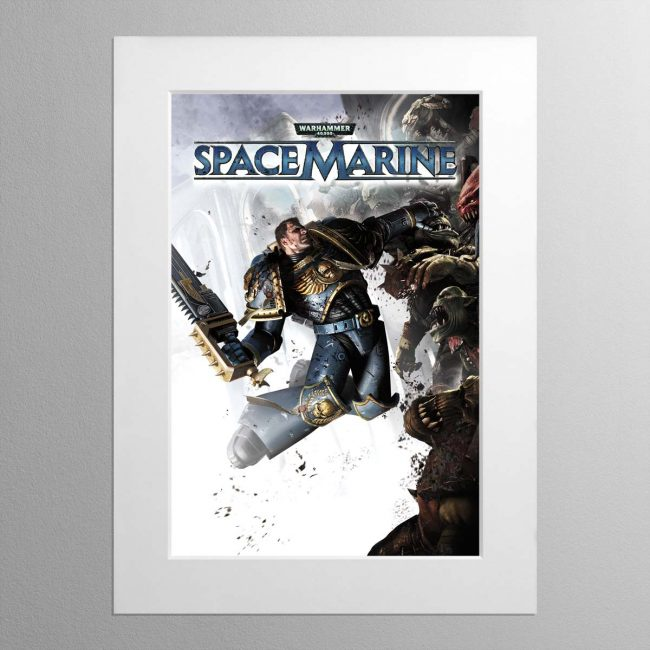 Space Marine – Mounted Print