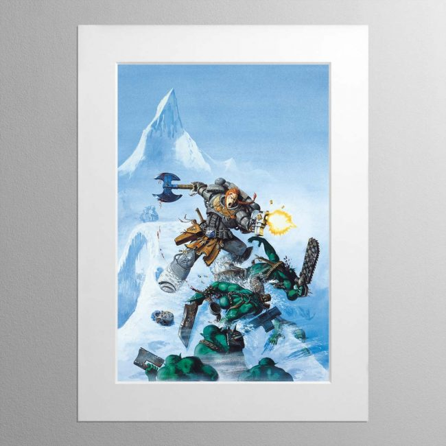 Space Wolves Cover – Mounted Print
