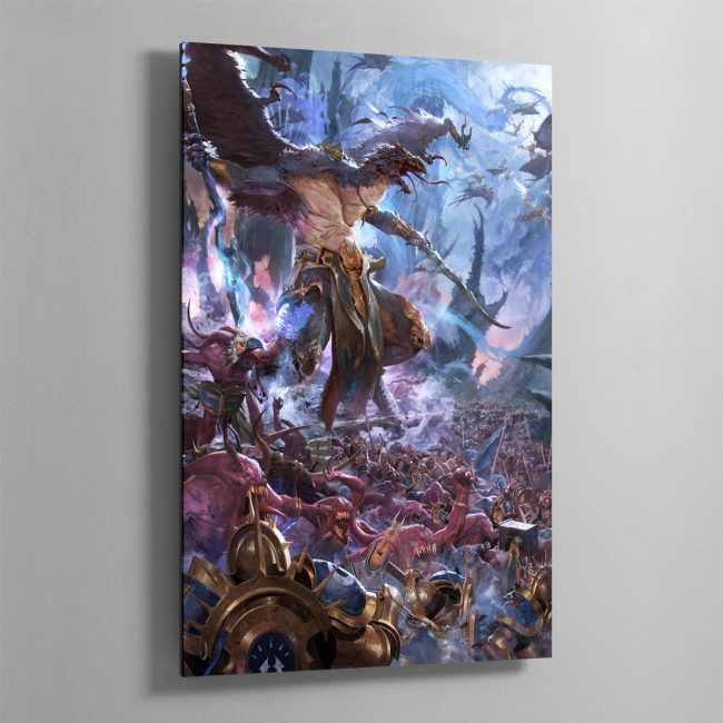 The Changehost of Tzeentch – Aluminium Print