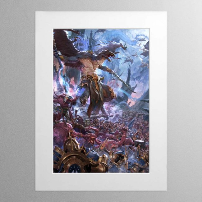 The Changehost of Tzeentch – Mounted Print