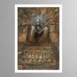 The Emperor Sits Upon His Golden Throne – Print