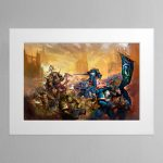 Ulramarines Vs Death Guard – Mounted Print