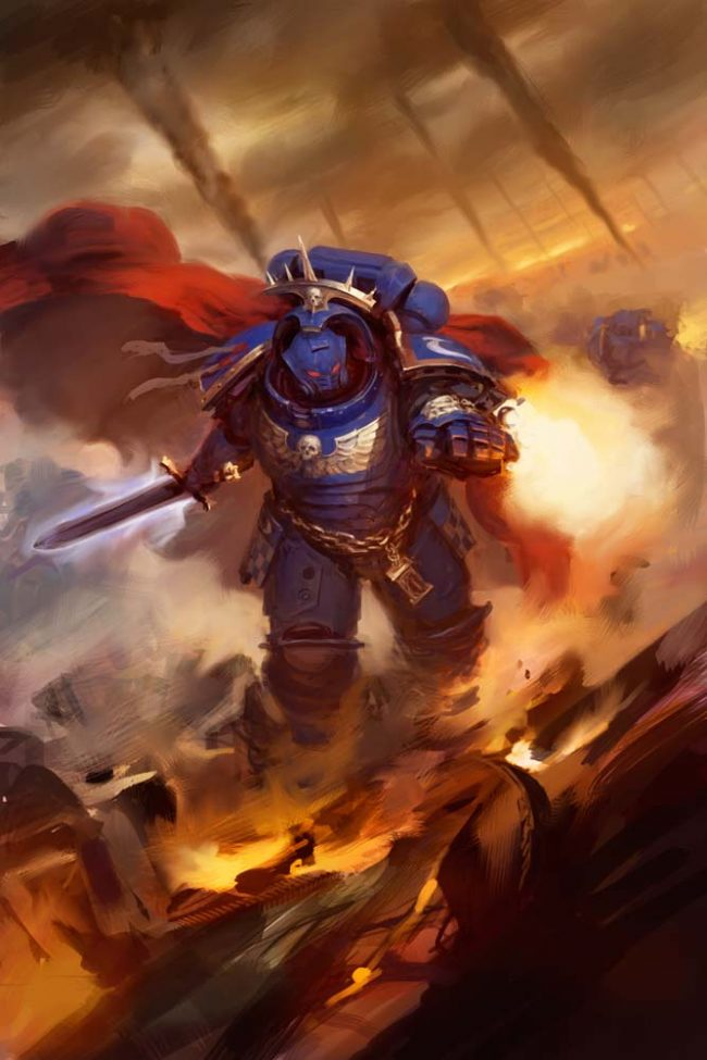Ultramarines Captain in Gravis Armour