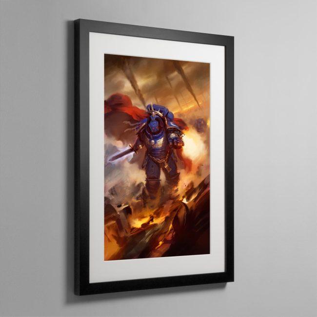 Ultramarines Captain in Gravis Armour – Frame Print