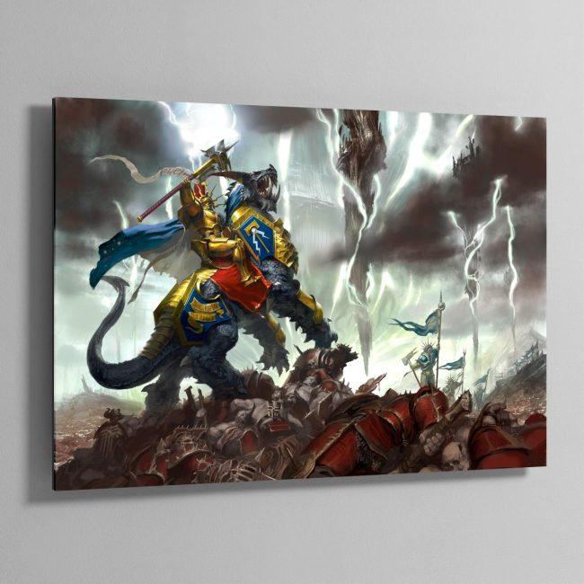 Vandus Hammerhand, Lord-Celestant of the Hammers of Sigmar – Aluminium Print