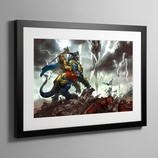 Vandus Hammerhand, Lord-Celestant of the Hammers of Sigmar – Frame Print