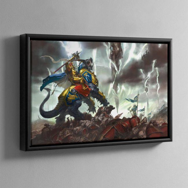 Vandus Hammerhand, Lord Celestant of the Hammers of Sigmar – Framed Canvas