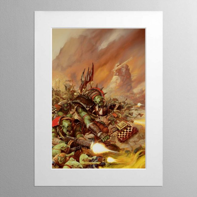 Waaagh! The Orks – Mounted Print