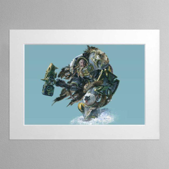 Wolf Guard – Mounted Print