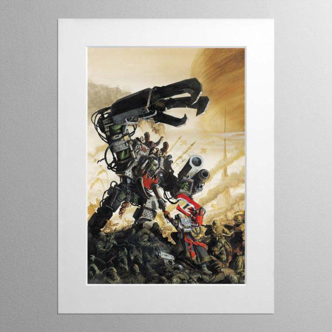 Yarrick Vs Ghazghkull Armageddon – Mounted Print